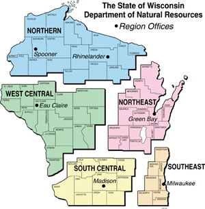 map of DNR regions