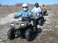 ATV education students on the trail