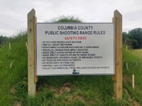Columbia County shooting range rules sign
