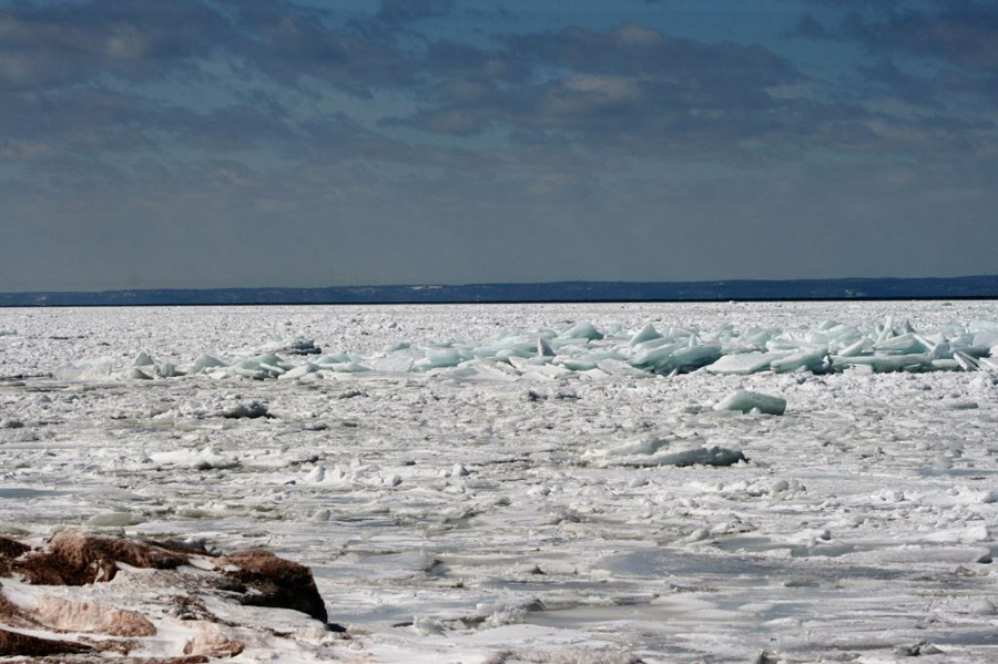 Lake Superior at the mouth of the Brule River. - Photo credit: DNR