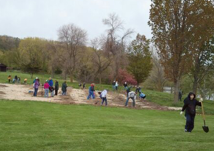 High Cliff Work Play Earth Day