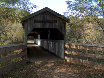 A covered bridge on the Sugar River State Trail.  Photo by Joe Warren.