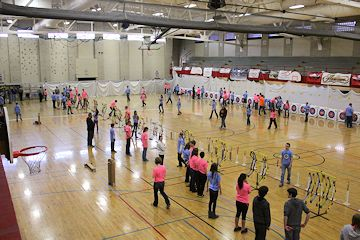 Students participating in the 2015 NASP tournament