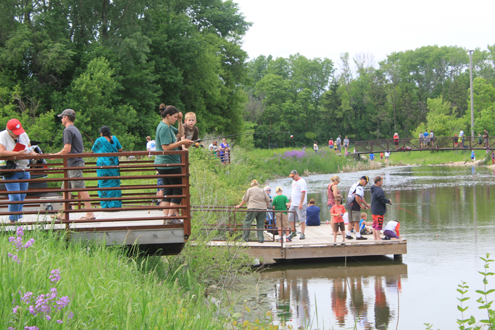 Fishing clinics will be held at state parks and other locations across the state as part of free fishing weekend.  This was a Learn 2 Fish program at High Cliff State Park in 2015.