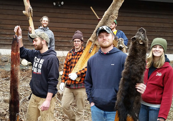 Students learn more about Wisconsin's furbearers in one of the department's Trapper Education courses