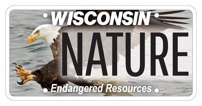 Win a free eagle license plate enter the eagle plate for Wisconsin dnr fishing license online