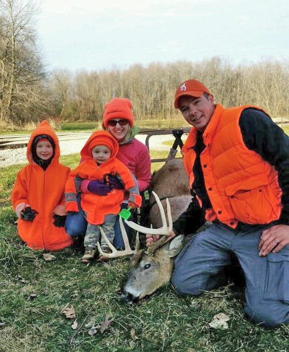 It's a family affair! The Hadfield family creates deer season memories with one another near Germantown.