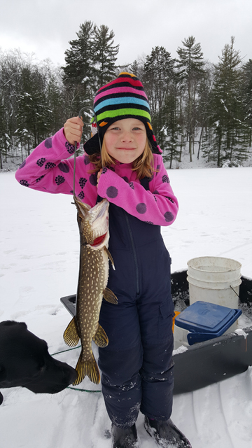 Northern pike put up a strong fight, but this one was no match for Cecelia Toshner, 5.
