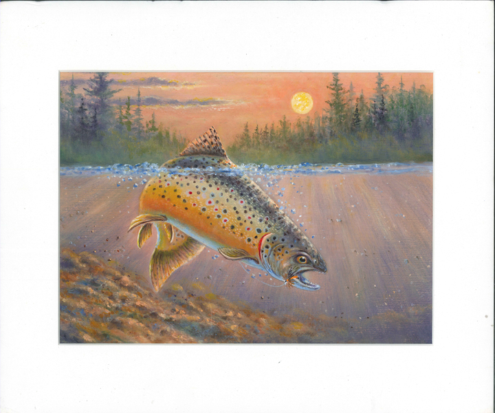 Students in grades 9-12 are invited to enter the design contests for 2018 trout and salmon stamps. The 2017 inland trout stamp is shown.