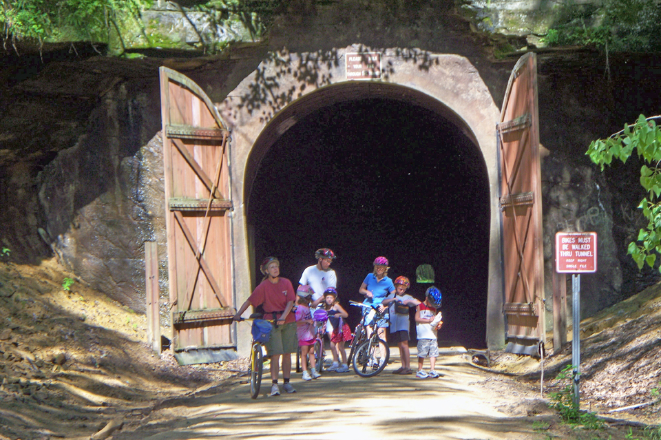 On Free Fun Weekend trail passes are waived for state managed trails like the popular Elroy-Sparta State Trail, known for its three tunnels.