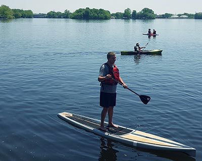 A number of parks offer canoe, kayak and stand-up paddle board rentals for those who want to get out on the water.