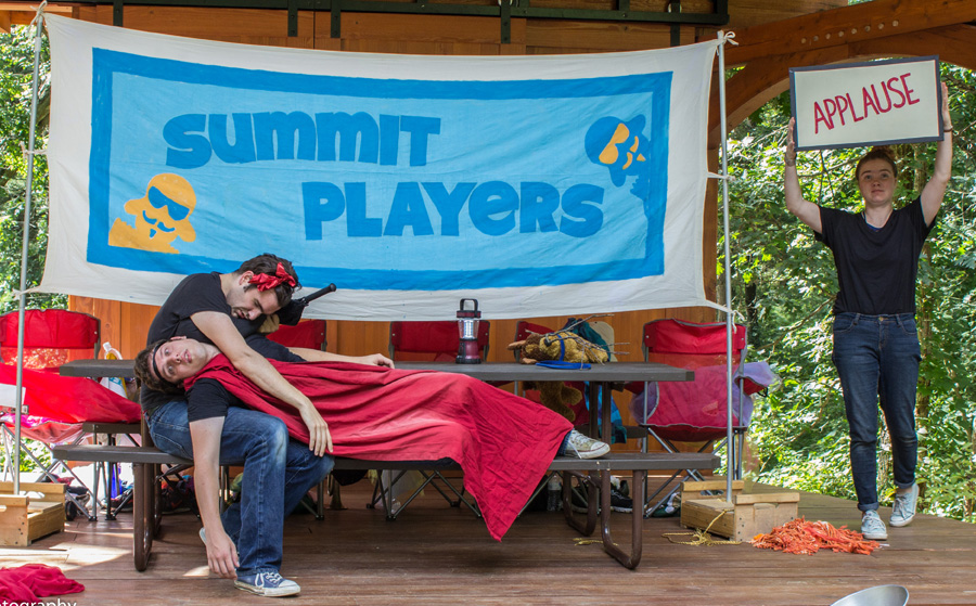 A scene from last summer's Summit Players production of Shakespeare in the Park.