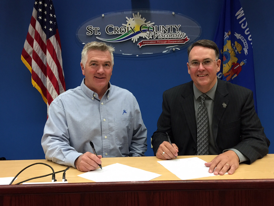 DNR Deputy Secretary Kurt Thiede and Pheasants Forever Director of Education & Outreach Rich Wissink signed an agreement co-fund and to co-manage the creation of a Recruitment, Reactivation and Retention Coordinator.