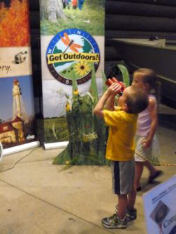 Visitors to the DNR Booth at the Wisconsin State Fair can learn about how to Get Outdoors and enjoy Wisconsin's parks, forest, trails and natural areas.