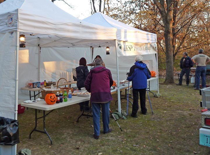At many events, friends groups--like the Friends of Lake Kegonsa--sell refreshments as a fundraiser for the property.