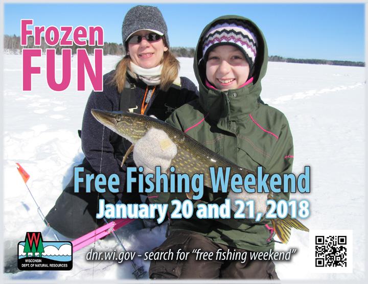 when is free fishing weekend in wisconsin