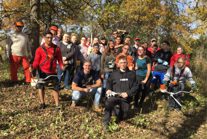 These Whitewater High School students were among the many volunteers helping care for State Natural Areas in 2017. Learn more about their efforts in the 2017 State Natural Areas Volunteer Annual Report.   - Photo credit: Ginny Coburn
