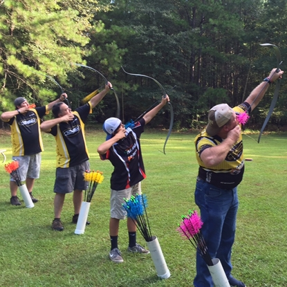 Arial Archery course - Photo credit: Pope and Young Club