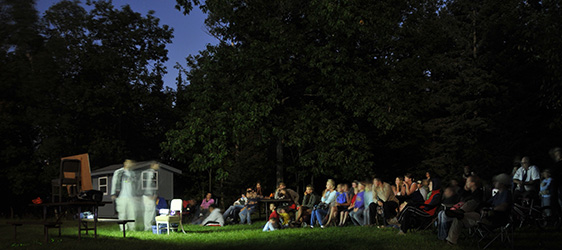 It's not unusual to see groups of up to 100 campers and park visitors gathered around a telescope gazing at the night sky at Wisconsin state parks on late spring, summer and early fall evenings. - Photo credit: University of Wisconsin Department of Astronomy