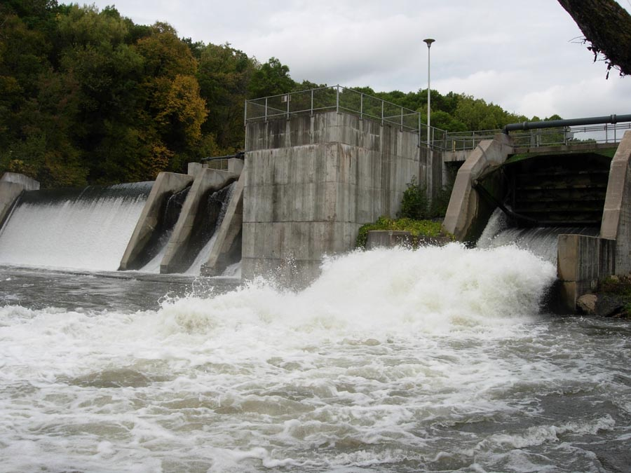 The Willow Falls Dam before it was breached.  - Photo credit: DNR