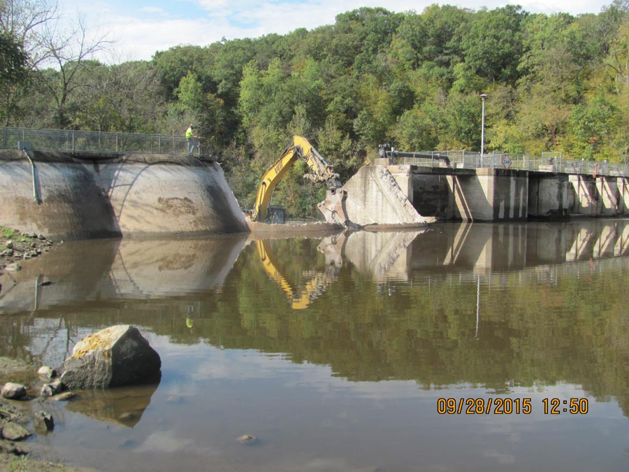 The Willow Falls Dam breached.  - Photo credit: DNR