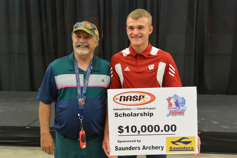 Kaden Christenson with NASP President Roy Grimes - Photo credit: DNR