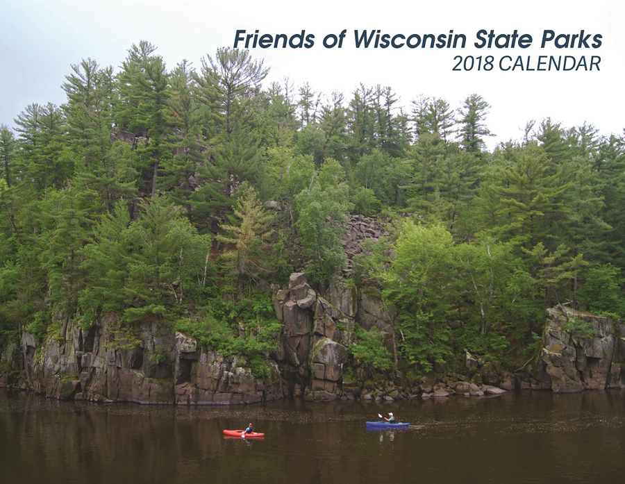 The cover photo for the 2018 Friends of Wisconsin State Parks calendar taken at Interstate State Park - Photo credit: Theodore Sadler