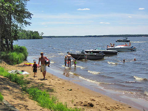 Castle Rock Flowage is one of the waters in the Wisconsin River basin that could benefit from the TMDL. - Photo credit: DNR