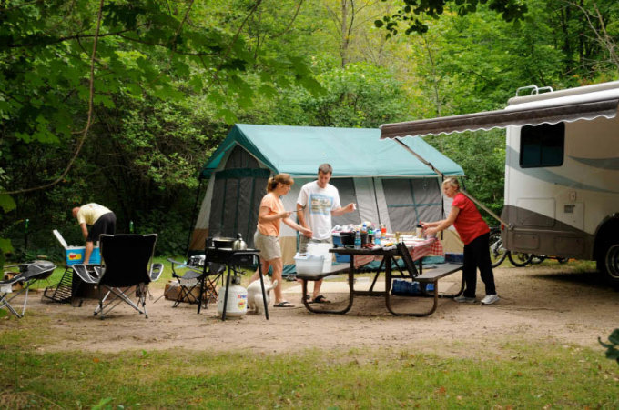 Under the new campsite reservation system, campers making reservations at Wisconsin State Park System properties will save almost $2 per reservation. - Photo credit: DNR