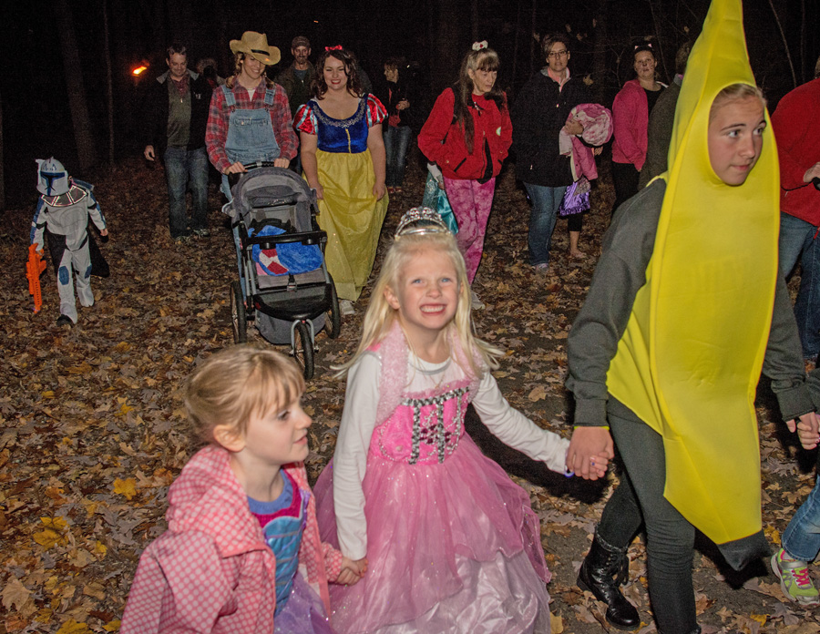 Halloween revelers of all ages are encouraged to dress in costumes at the many events being held across the state. - Photo credit: DNR