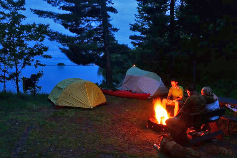 The new campsite reservation system will include a search feature that allows people to sites with specific features, such as waterfront sites. - Photo credit: DNR
