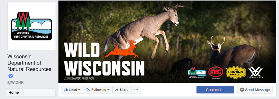 Visit the Wisconsin DNR Facebook page to share your hunting experiences this fall.< - Photo credit: DNR