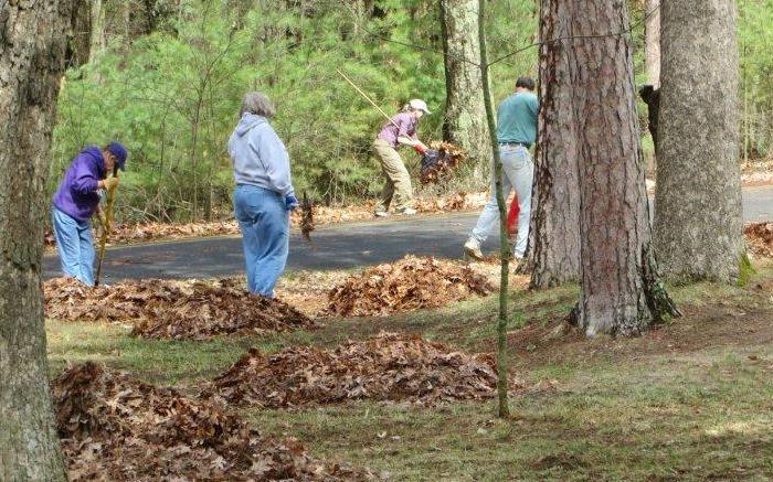 Volunteers also help get picnic areas and campgrounds ready for the season. - Photo credit: Friends of Wisconsin State Parks
