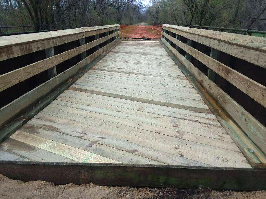 A section of the 400 State Trail reopened this week after bridges were repaired. - Photo credit: DNR