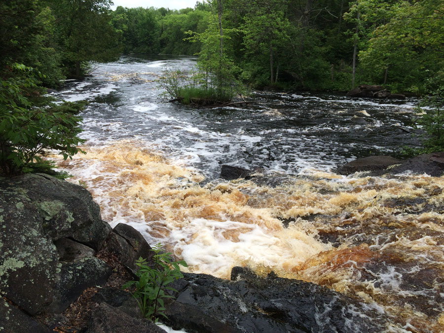 Big Bull Falls on the Popple River in the Pine-Popple Wild Rivers Area - Photo credit: Jeff Pennucci