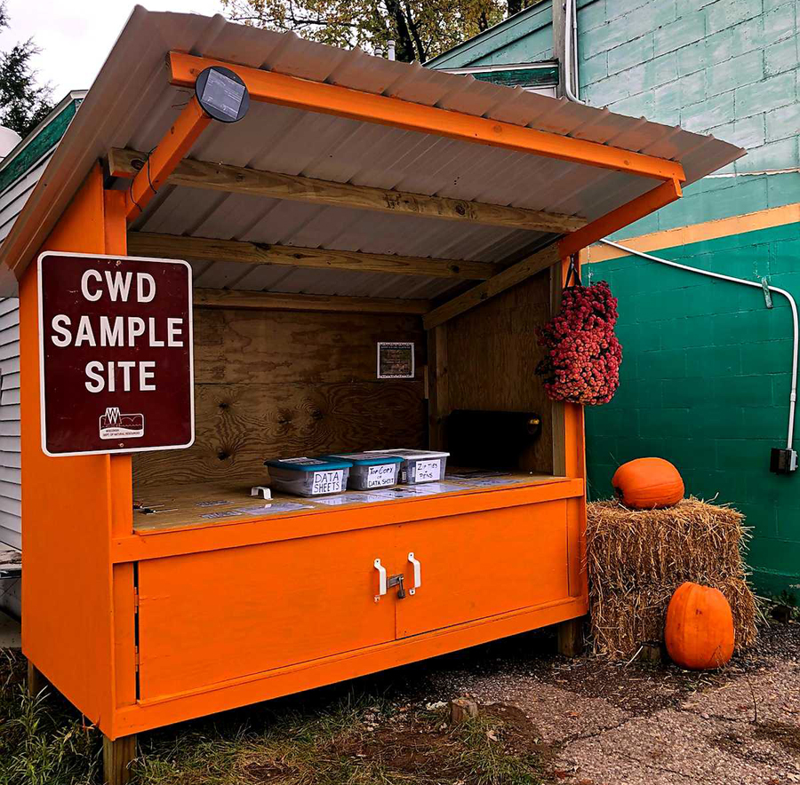 A CWD self-sample kiosk. - Photo credit: DNR