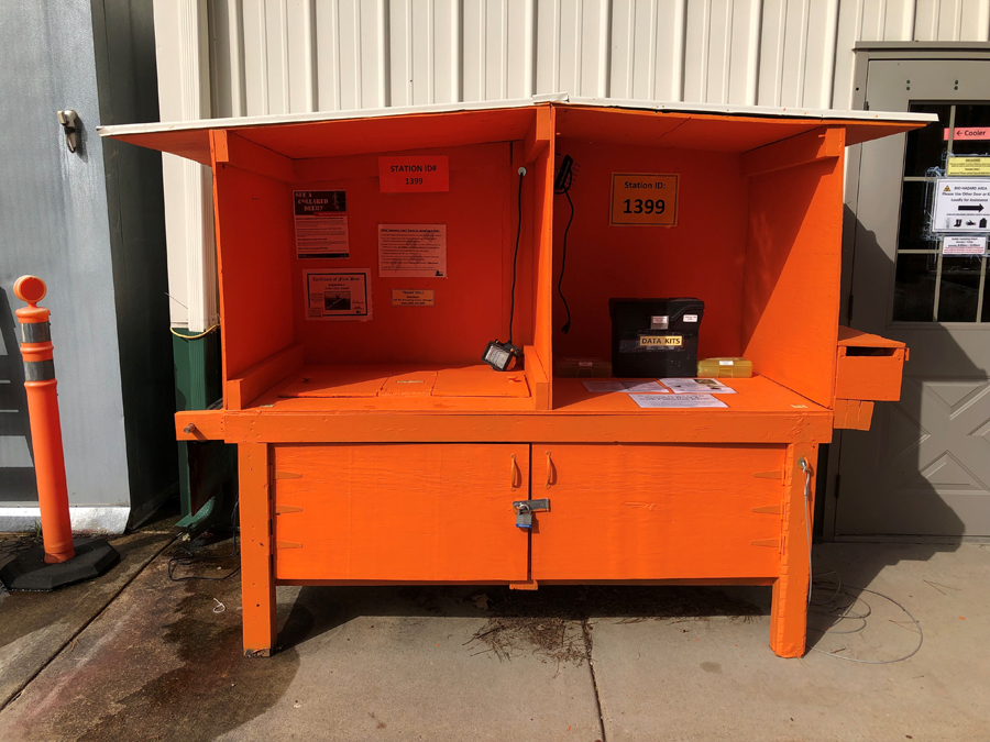 Self-sampling kiosks are a convenient way for hunters to have their deer tested for CWD. - Photo credit: DNR