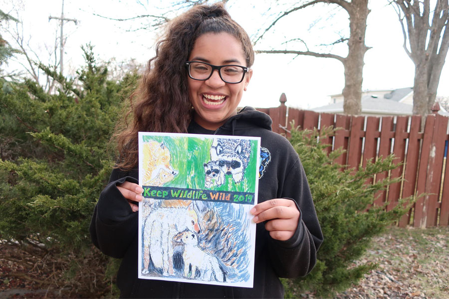 Sofia Crowley won first place in the sixth-grade category for her submission in 2019. - Photo credit: DNR