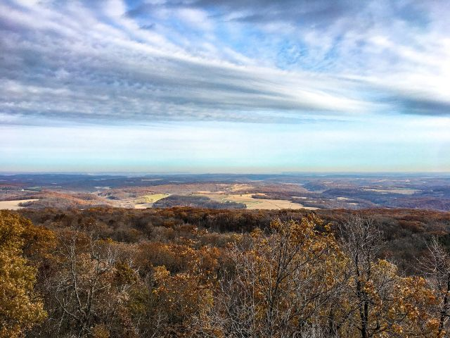 View from the east tower at Blue Mound State Park - Photo credit: Katie Godding