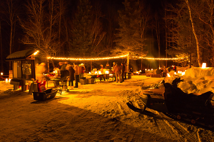 Many events offer fires and refreshments, like this one at the Flambeau RIver State Forest. - Photo credit: DNR