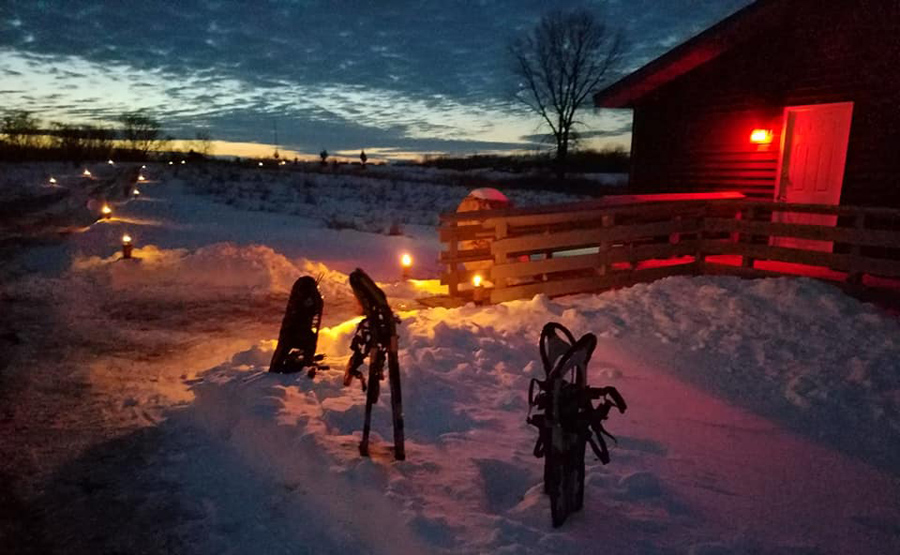 Candlelight events offer a variety of options. Some have cross-country skiing, snowshoeing and hiking. Others may just offer one activity. - Photo credit: DNR