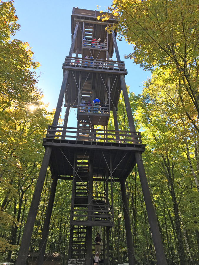The observation tower at Potawatomi State Park will be dismantled after three separate studies found decay and rot in the sturcuture that was built in 1932. - Photo credit: DNR