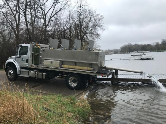 Fish stocking operations are considered essential business and continue as planned. - Photo credit: DNR