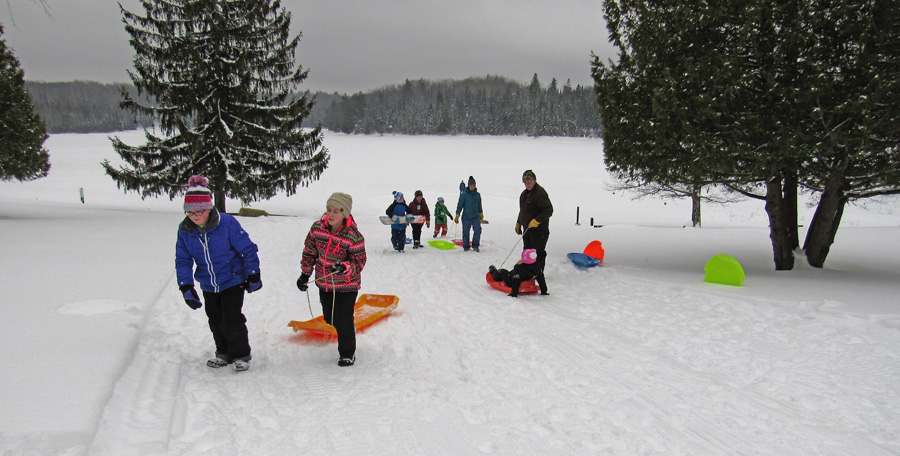 The sledding hill is popular with the younger crowds at Winterfest. - Photo credit: DNR