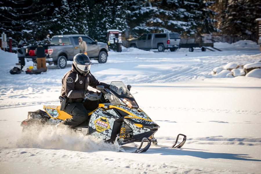 International Snowmobile Safety Week is January 18-26. - Photo credit: DNR