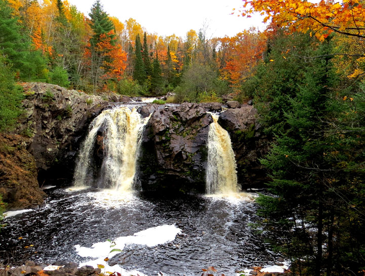 Fall color was peak last weekend at Pattison State Park's Little Manitou Falls.