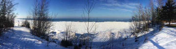 View of Lake Superior from the Brule River State Forest