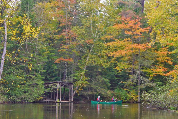 Beautiful weather for looking at the fall colors, canoeing, or fishing on the Bois Brule River.