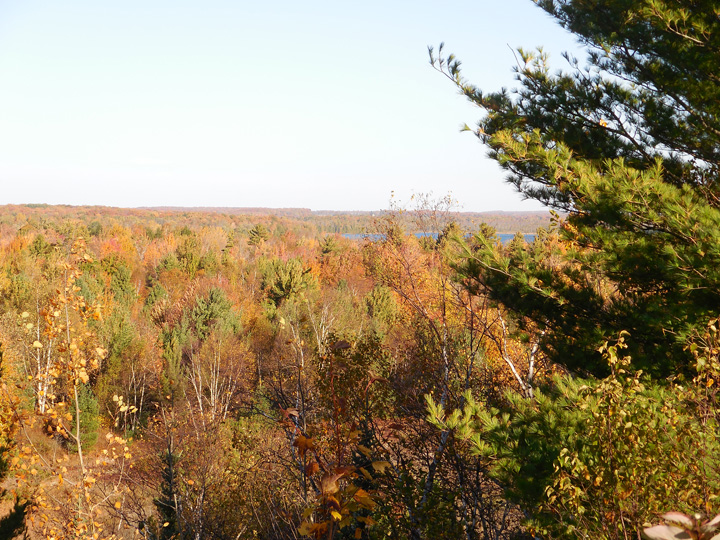 Fall colors are now peaking in Door County. Photo from Oct. 19 from atop