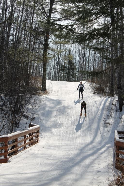 Conditions are still good for skiing at the Brule River State Forest, which will host the Brule River Loppet ski races Saturday. - Photo credit: DNR